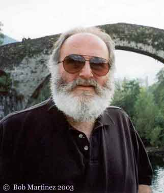 "Bob Martínez at the ""Roman"" bridge at Cangas de Onis, October 1999"